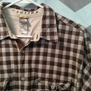 Mens L North Face Flannel Button Down A5 Series